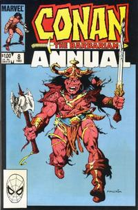 Cover Thumbnail for Conan Annual (Marvel, 1973 series) #8 [Direct]