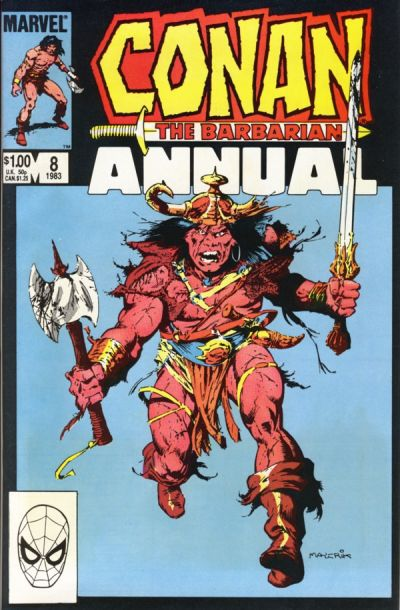 Cover for Conan Annual (Marvel, 1973 series) #8 [Newsstand Edition]