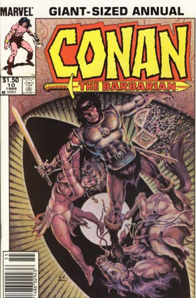 Cover for Conan Annual (Marvel, 1973 series) #10 [Direct Edition]