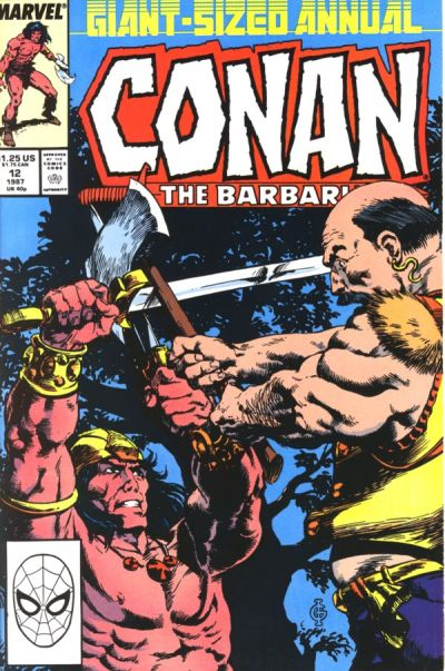 Cover for Conan Annual (Marvel, 1973 series) #12 [Newsstand Edition]