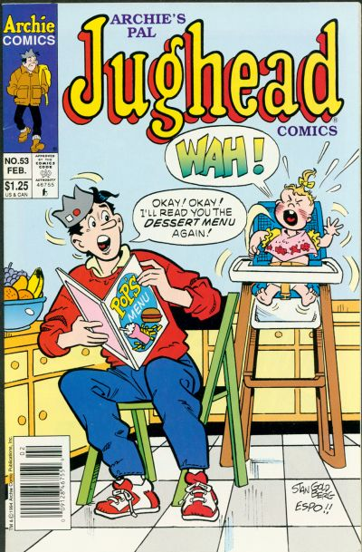 Cover for Archie's Pal Jughead Comics (Archie, 1993 series) #53 [Newsstand]