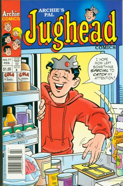 Cover for Archie's Pal Jughead Comics (Archie, 1993 series) #77