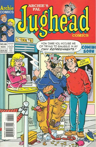 Cover for Archie's Pal Jughead Comics (Archie, 1993 series) #86