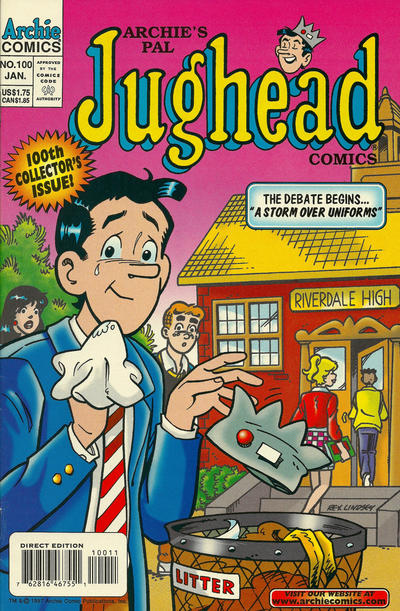 Cover for Archie's Pal Jughead Comics (Archie, 1993 series) #100