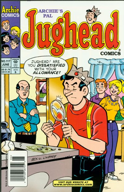 Cover for Archie's Pal Jughead Comics (Archie, 1993 series) #117