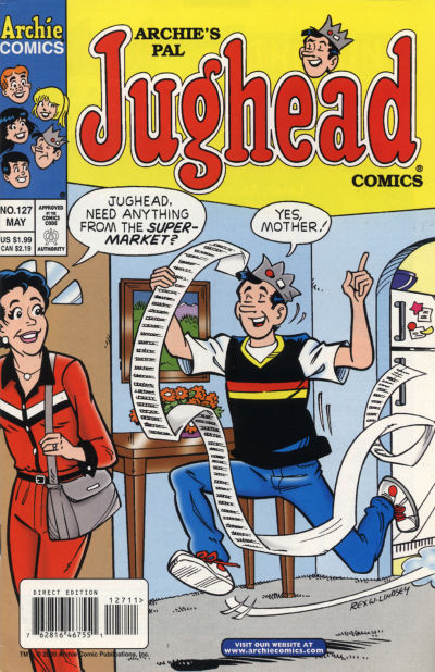 Cover for Archie's Pal Jughead Comics (Archie, 1993 series) #127