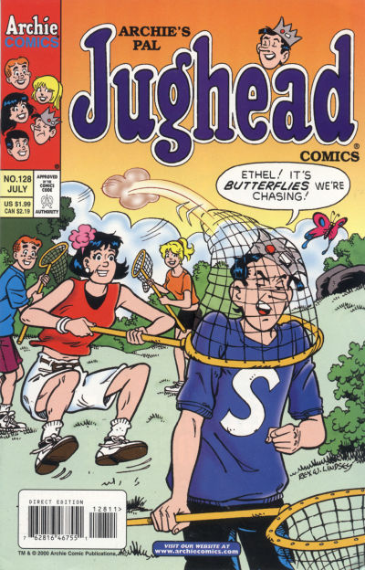 Cover for Archie's Pal Jughead Comics (Archie, 1993 series) #128
