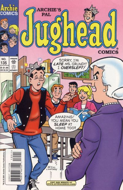 Cover for Archie's Pal Jughead Comics (Archie, 1993 series) #135