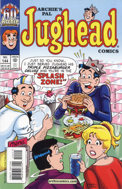 Cover for Archie's Pal Jughead Comics (Archie, 1993 series) #144