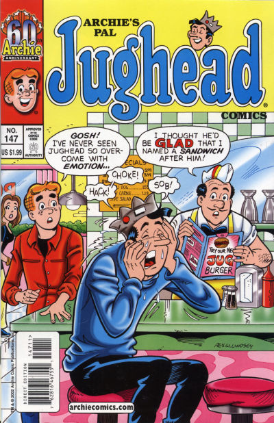 Cover for Archie's Pal Jughead Comics (Archie, 1993 series) #147