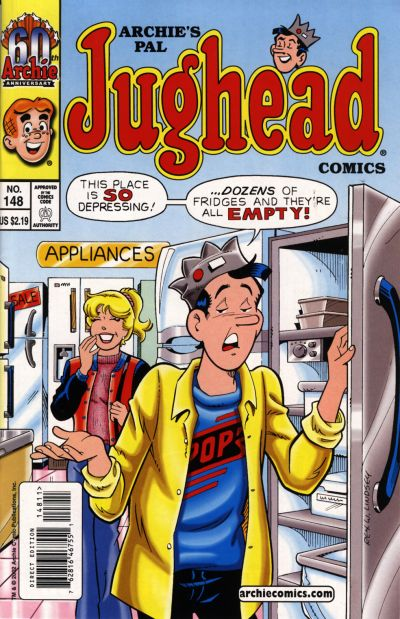 Cover for Archie's Pal Jughead Comics (Archie, 1993 series) #148