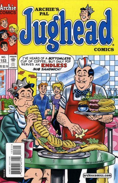 Cover for Archie's Pal Jughead Comics (Archie, 1993 series) #153