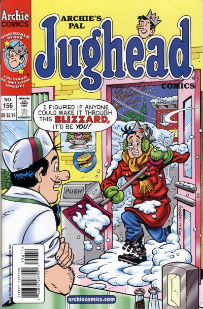 Cover for Archie's Pal Jughead Comics (Archie, 1993 series) #156