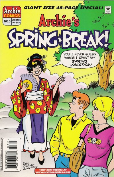 Cover for Archie's Spring Break (Archie, 1996 series) #3