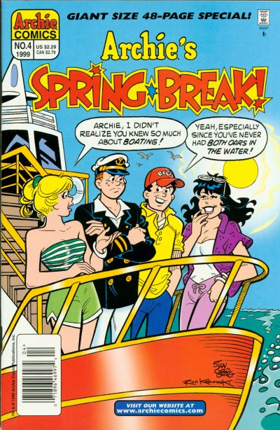 Cover for Archie's Spring Break (Archie, 1996 series) #4 [Direct]