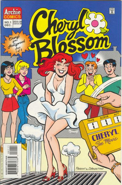 Cover for Cheryl Blossom (Goes Hollywood) (Archie, 1996 series) #1 [Direct Edition]