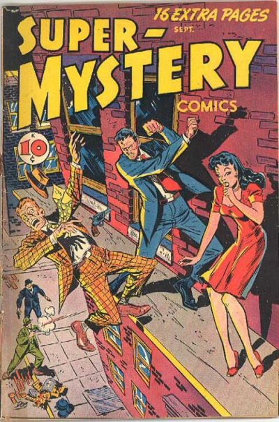 Cover for Super-Mystery Comics (Ace Magazines, 1940 series) #v7#1