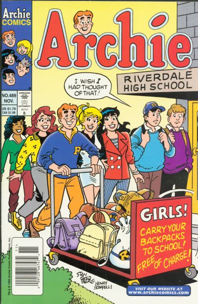 Cover for Archie (Archie, 1959 series) #489