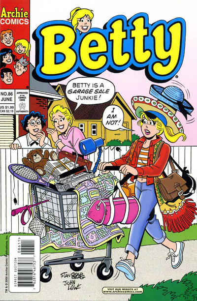 Cover for Betty (Archie, 1992 series) #86