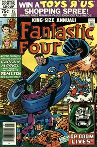 Cover Thumbnail for Fantastic Four Annual (Marvel, 1963 series) #15 [Newsstand Edition]