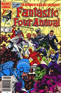Cover Thumbnail for Fantastic Four Annual (Marvel, 1963 series) #18 [Newsstand Edition]
