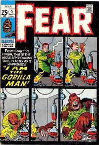 Cover Thumbnail for Fear (Marvel, 1970 series) #5