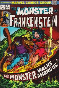 Cover Thumbnail for Frankenstein (Marvel, 1973 series) #5