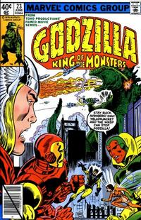Cover Thumbnail for Godzilla (Marvel, 1977 series) #23 [Direct Edition]