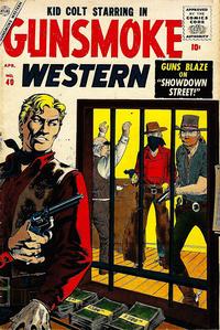 Cover Thumbnail for Gunsmoke Western (Marvel, 1955 series) #40