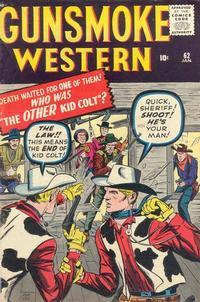 Cover Thumbnail for Gunsmoke Western (Marvel, 1955 series) #62