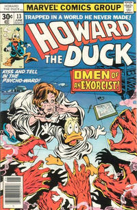 Cover Thumbnail for Howard the Duck (Marvel, 1976 series) #13 [30¢ Cover Price]
