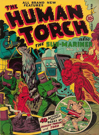 Cover for The Human Torch (Marvel, 1940 series) #4 (3)