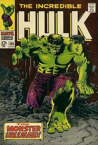 Cover for The Incredible Hulk (Marvel, 1968 series) #105