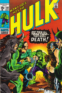 Cover Thumbnail for The Incredible Hulk (Marvel, 1968 series) #139 [Regular Edition]