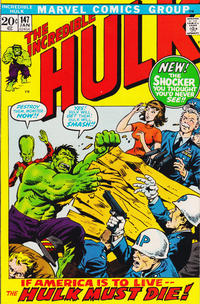 Cover Thumbnail for The Incredible Hulk (Marvel, 1968 series) #147 [Regular Edition]