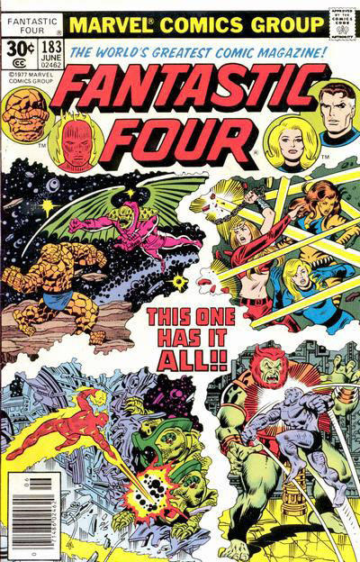 Cover for Fantastic Four (Marvel, 1961 series) #183 [30¢ Cover Price]