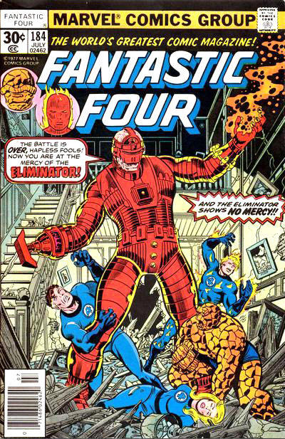 Cover for Fantastic Four (Marvel, 1961 series) #184 [30¢ Cover Price]