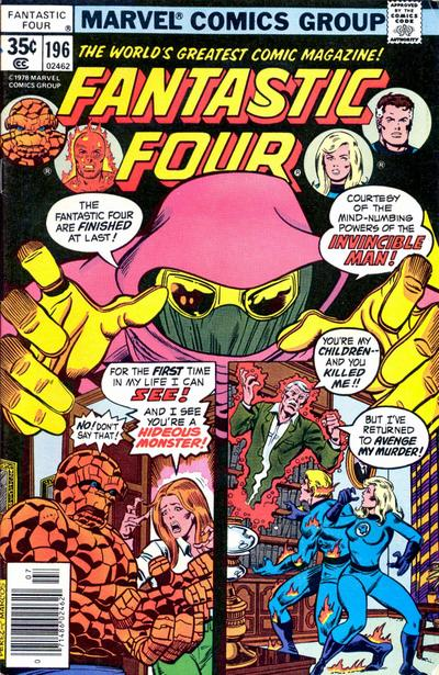 Cover for Fantastic Four (Marvel, 1961 series) #196