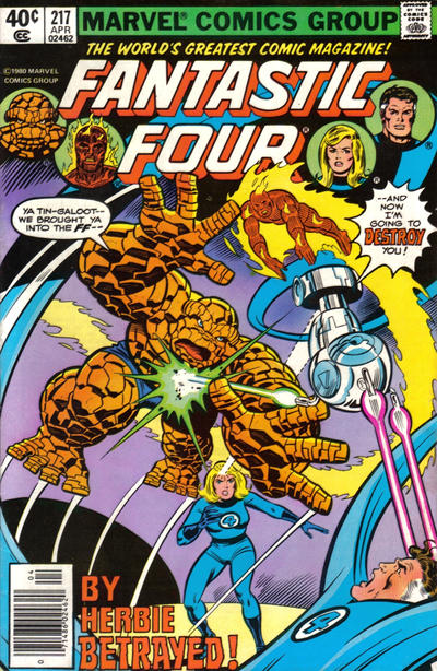 Cover for Fantastic Four (Marvel, 1961 series) #217 [Direct]