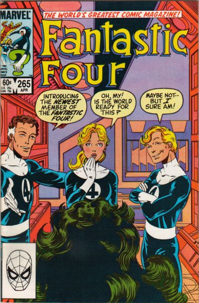 Cover for Fantastic Four (Marvel, 1961 series) #265 [Direct Edition]