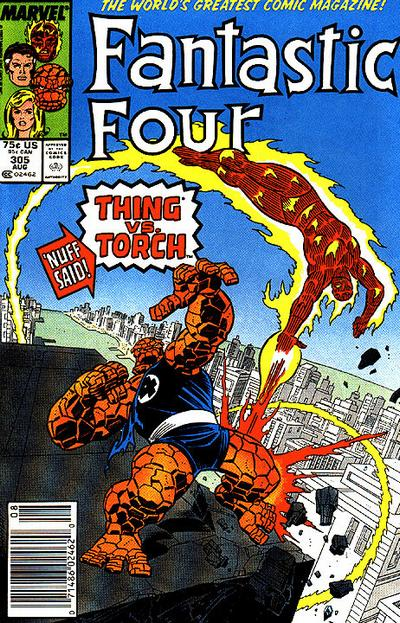 Cover for Fantastic Four (Marvel, 1961 series) #305 [Direct Edition]