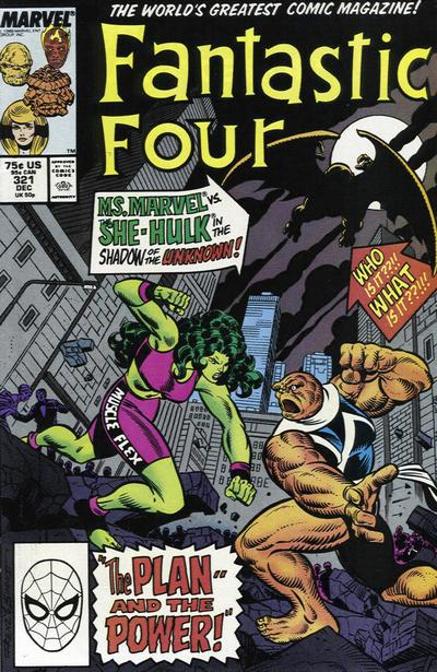 Cover for Fantastic Four (Marvel, 1961 series) #321 [Direct Edition]