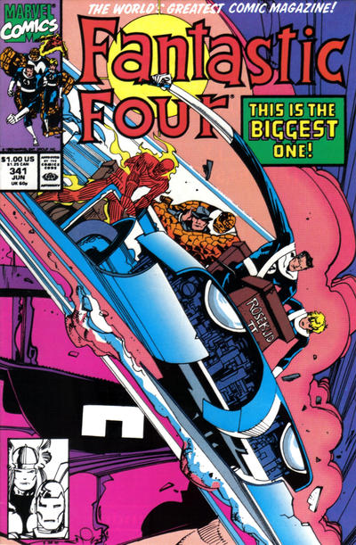 Cover for Fantastic Four (Marvel, 1961 series) #341 [Direct Edition]