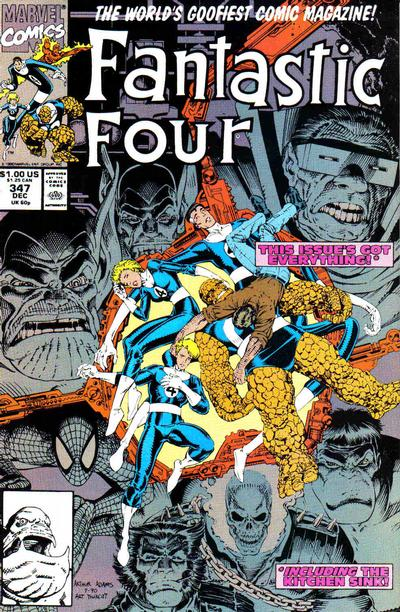 Cover for Fantastic Four (Marvel, 1961 series) #347 [Gold Second Printing]