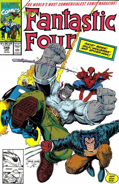 Cover for Fantastic Four (Marvel, 1961 series) #348 [Direct]