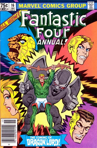 Cover for Fantastic Four Annual (Marvel, 1963 series) #16 [Newsstand Edition]