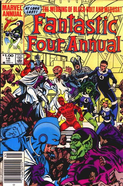 Cover for Fantastic Four Annual (Marvel, 1963 series) #18 [Direct Edition]