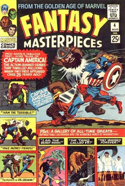 Cover for Fantasy Masterpieces (Marvel, 1966 series) #4