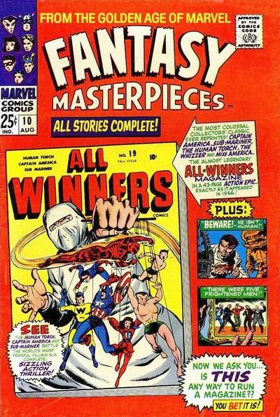 Cover for Fantasy Masterpieces (Marvel, 1966 series) #10
