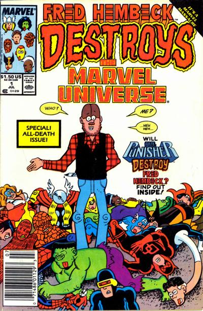 Cover for Fred Hembeck Destroys the Marvel Universe (Marvel, 1989 series) #1 [Direct]
